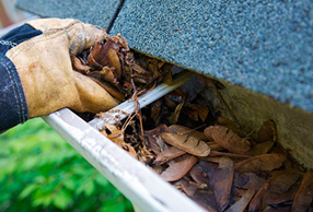 Stop cleaning rain gutters - get gutter guards!