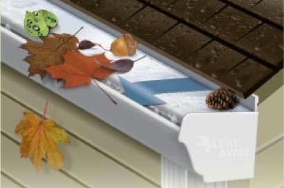 Leafaway Gutter System No More Clogged Gutters With Leaf