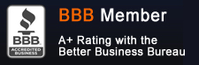 Better Business Bureau rating for California Gutterworks